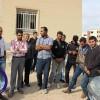 تجمع کارگران اخراجی کارخانه سیمان گلگیر در مقابل فرمانداری مسجدسلیمان