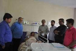 عیادت اهالی رسانه شهرستان مسجدسلیمان از خبرنگار شبکه بین المللی خبر در این شهرستان