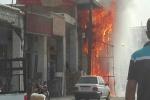 آتش سوزی در خیابان نمره یک مسجدسلیمان + تصاویر