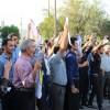تجمع اعتراضی از مردم مسجدسلیمان در محکومیت تخریب مجسمه سردار بختیاری+تصاویر