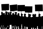 تجمع اعتراضی کارگران کارخانه سیمان کارون در مقابل اداره کار و امور اجتماعی